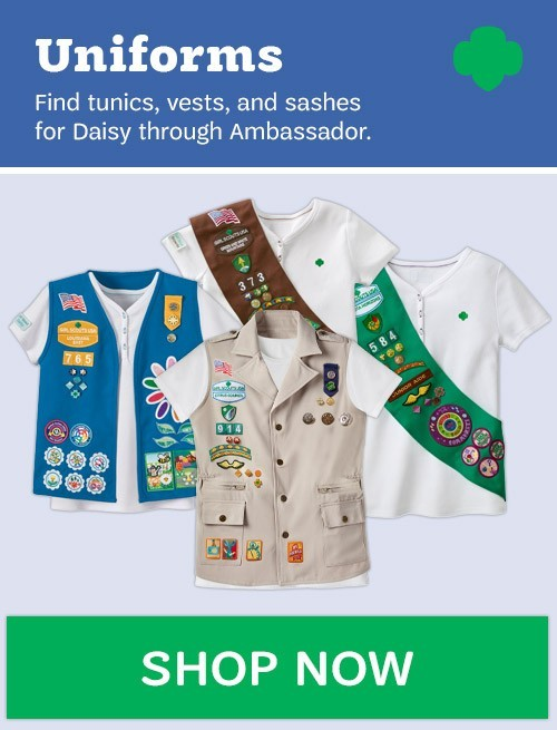 Uniforms. Find tunics, vests, and sashes for Daisy through Ambassador. Shop Now.
