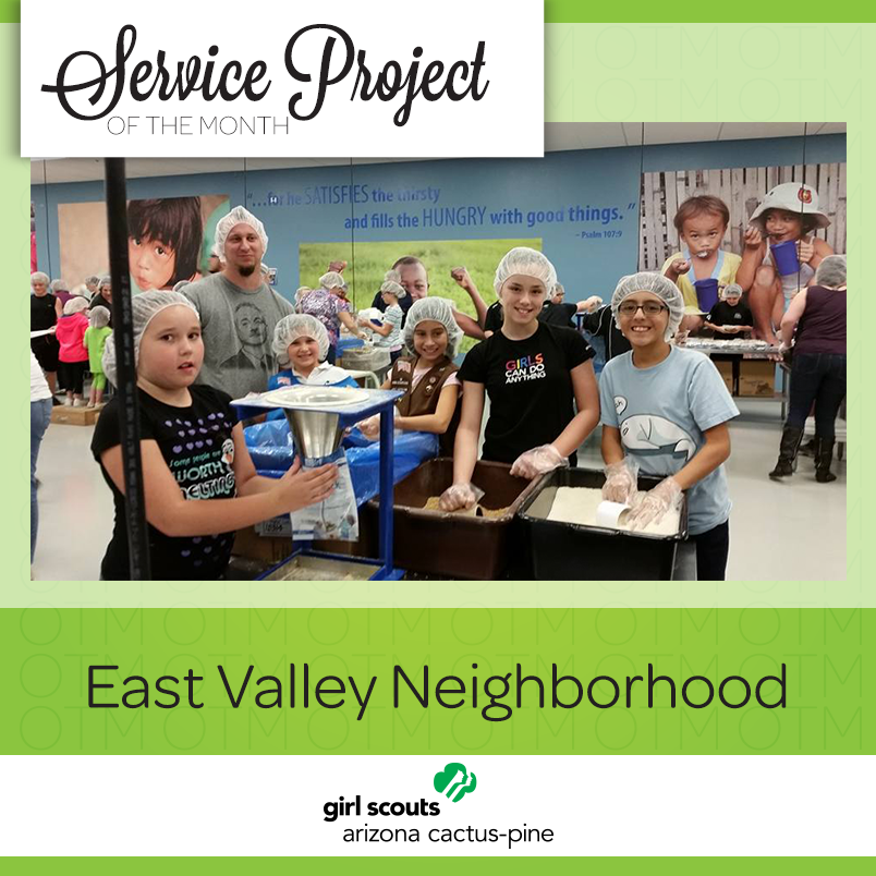 service project of the month girl scouts help turn hunger