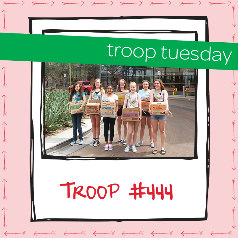troop tuesday troop 444 gives back to the community